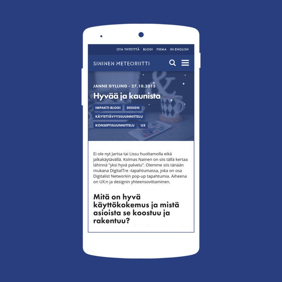 Sininen Meteoriitti - Mobile