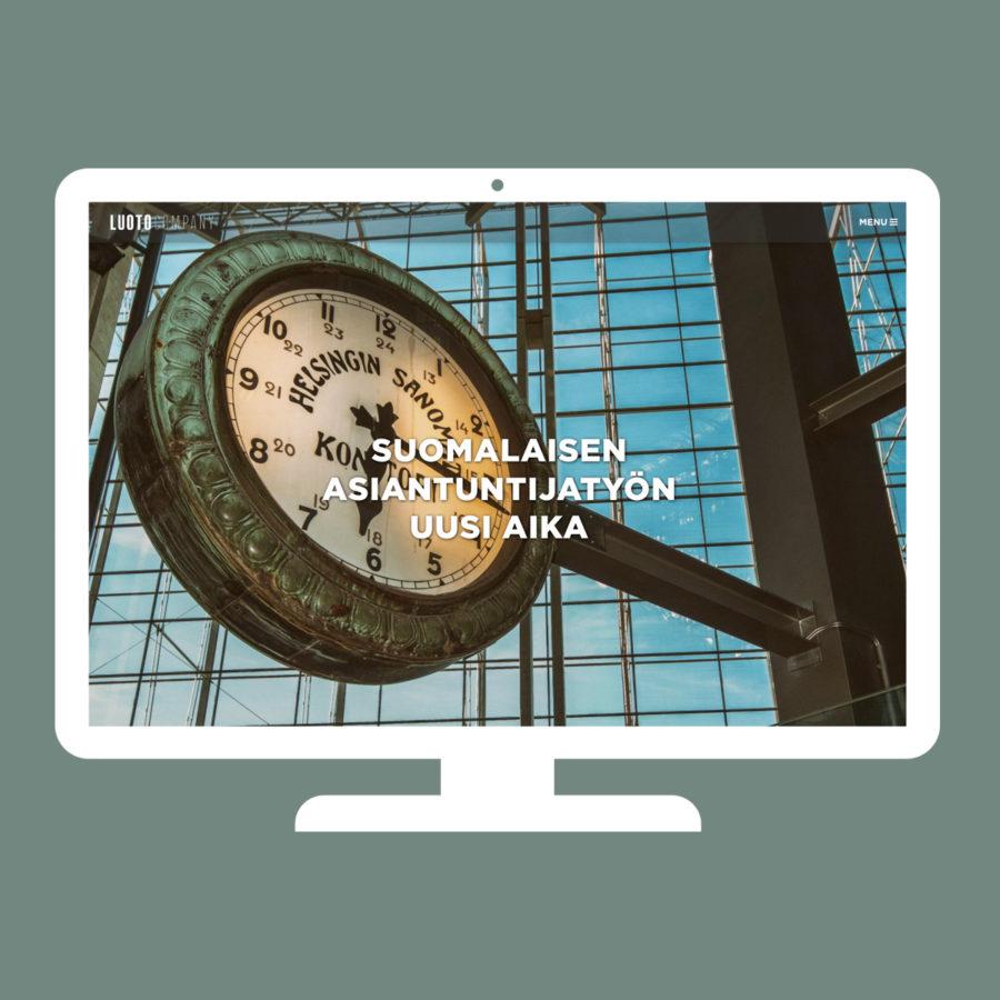 Luoto Companyn verkkosivusto desktopilla