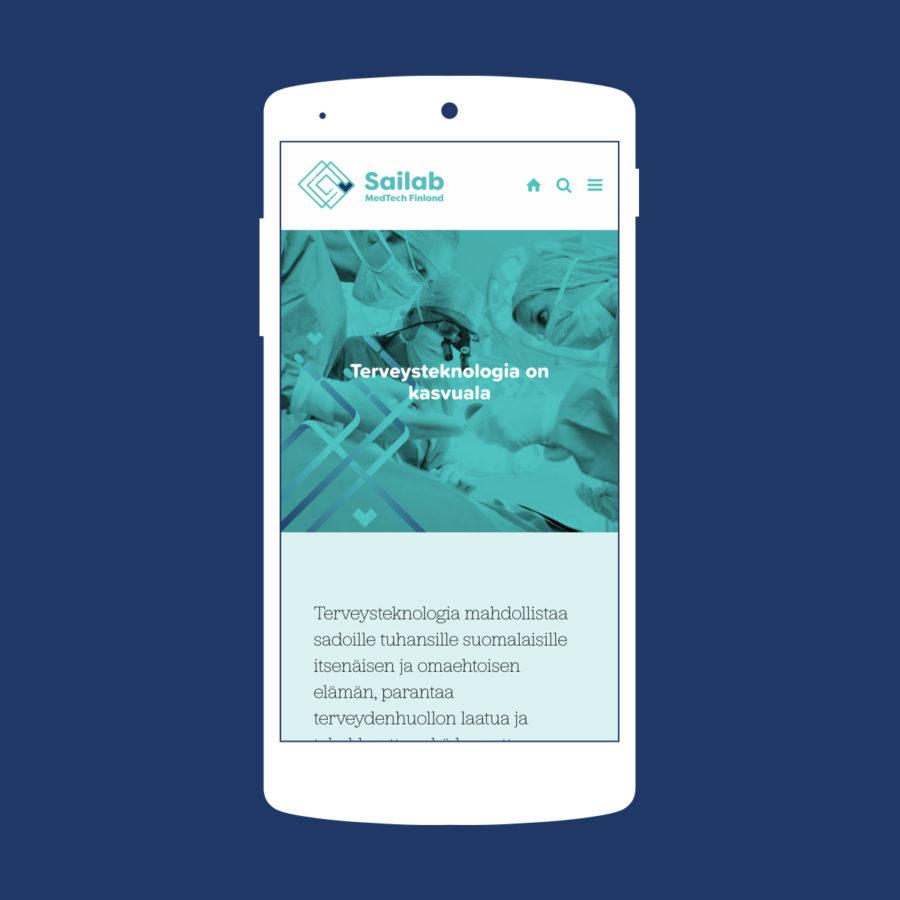 Sailab - Mobiili-näkymä