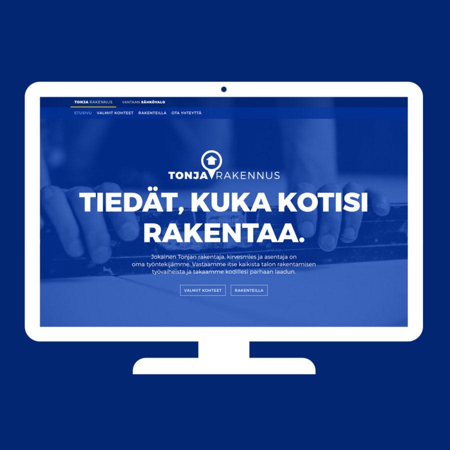 Tonja Rakennus - Desktop-näkymä