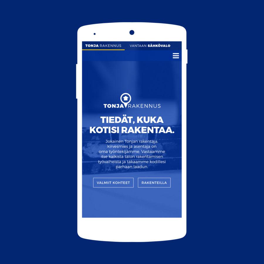Tonja Rakennus - Mobiilinäkymä
