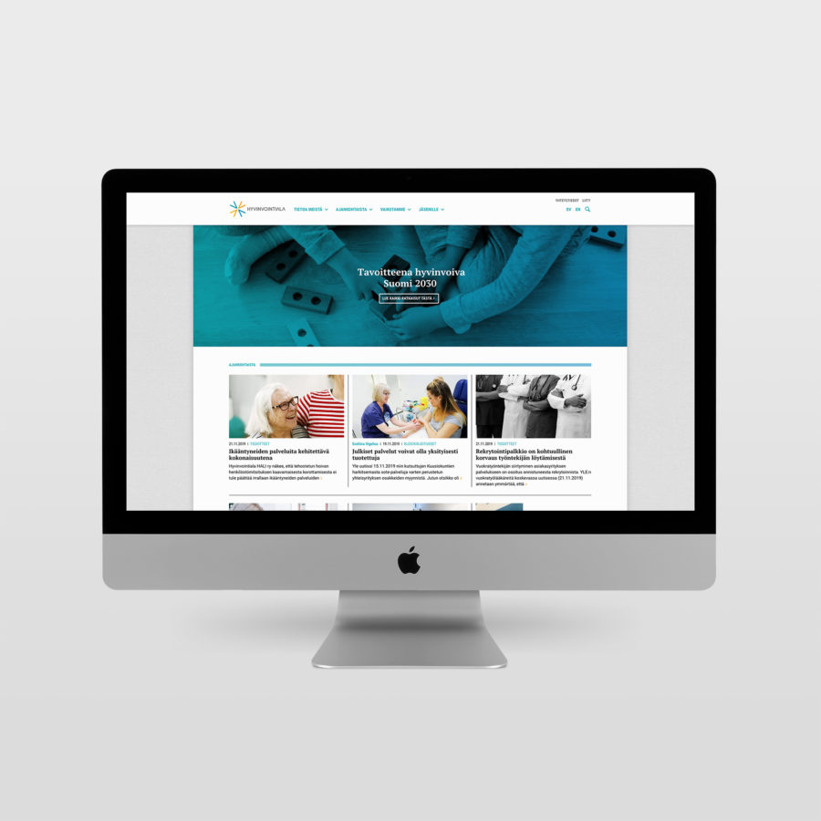 Hyvinvointiala.fi-sivusto desktopilla