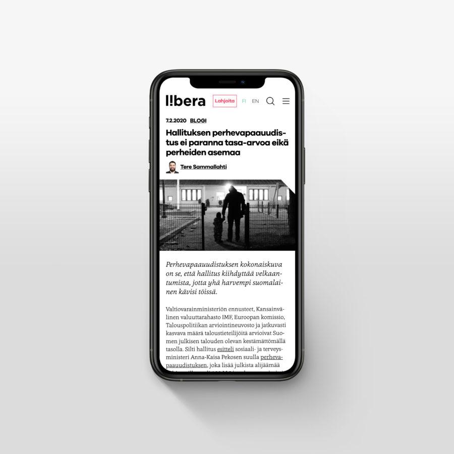 Libera.fi kännykällä